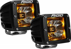 Lighting - Rigid Industries - Rigid Industries 20204 Radiance Cube Lights in Amber Pair