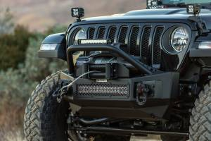 Shop Bumpers By Vehicle - Jeep Wrangler JL - Go Rhino - Go Rhino 331101T Rockline Front Bumper with Stubby Bar Jeep Wrangler JL 2018-2020