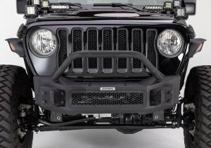 Go Rhino - Go Rhino 331101T Rockline Front Bumper with Stubby Bar Jeep Wrangler JL 2018-2019 - Image 2