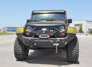 Jeep Wrangler JK - Steelcraft - Steelcraft 70-92600 Elevation Bullnose Front Bumper Jeep Wrangler JK 2007-2018