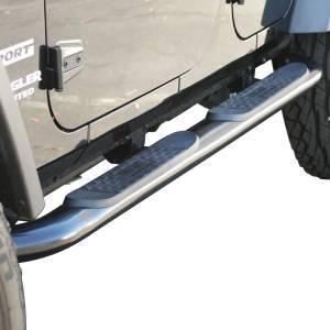 Westin - Westin 21-3295 Platinum 4 Oval Nerf Step Bars Jeep Wrangler JK Unlimited 4dr 2007-2018 - Image 6