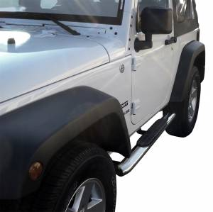 Westin - Westin 21-23310 PRO TRAXX 4 Oval Nerf Step Bars Jeep Wrangler JK 2dr 2007-2018 - Image 4