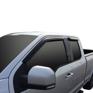 Westin - Westin 72-37446 Tape On Wind Deflector 4pc Ford F-150 SuperCab 2015-2020 and F-250/350 SuperCab SuperDuty 2017-2019 - Image 2