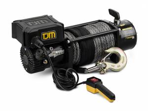 Exterior Accessories - Winches - TJM - TJM 947TQBLK12DDS 12K Torq Winch with Synthetic Rope