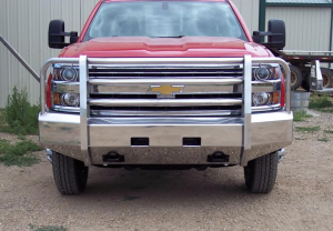 Shop Bumpers By Vehicle - Chevy Tahoe and Suburban - Truck Defender - Truck Defender Aluminum Front Bumper Chevy Surburban 1500 2007-2014