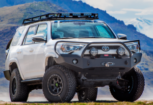 Expedition One - Expedition One 4RFB100_BARE Bare Steel Base Front Bumper without Grille Guard Toyota 4Runner 2014-2019 - Image 3