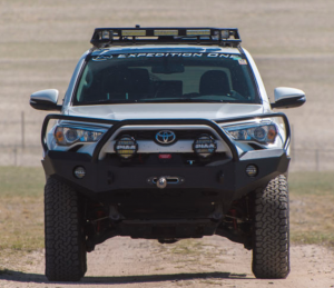 Expedition One - Expedition One 4RFB100_H_BARE Bare Steel Front Bumper with Single Center Hoop Toyota 4Runner 2014-2019 - Image 2