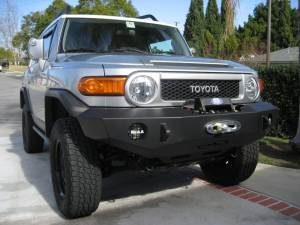Expedition One FJCFB100_PC Textured Black Trail Series Front Bumper Base Toyota FJ Cruiser
