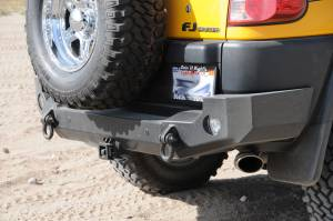 Expedition One FJCRB100 Trail Series Rear Bumper for Toyota FJ Cruiser 2010-2017 - Bare Steel