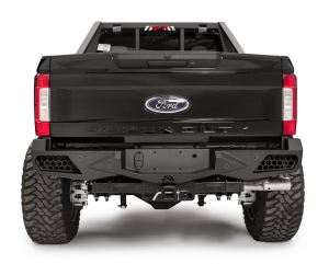 Superduty Bumpers - Ford Superduty 2017-2019 - Fab Fours - Fab Fours FS17-E4151-B Vengeance Rear Bumper with Sensor Holes Ford F250/F350 2017-2019 *BARE STEEL*