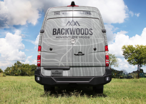 Van Bumpers - Mercedes Sprinter Vans - Backwoods - Backwoods BWMEMS-203ZZSSN NOMAD Rear Bumper without Radar No Swingout with Flush Mount Holes Bare Steel Mercedes Sprinter 2014-2018