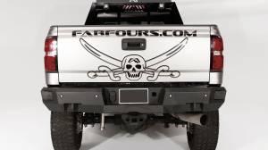 Chevy Silverado 2500/3500 - Chevy Silverado 2500HD/3500 2015-2019 - Fab Fours - Fab Fours CH14-W3051-B Premium Premium Rear Bumper with Sensors Chevy Silverado 2500HD/3500 2015-2019 *BARE STEEL*