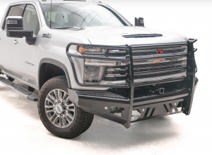 Truck Bumpers - Fab Fours Black Steel - Chevy Silverado 2500HD/3500 2020-2021