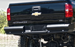 Fab Fours - Fab Fours CH20-U4950-1 Black Steel Elite Smooth Rear Bumper GMC Sierra 2500HD/3500 2020-2021