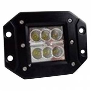 Hammerhead Bumpers - Hammerhead 307-13-0451 Zilla Flush Mount LED Cube Light Pair with Wiring Harness