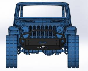 Shop Bumpers By Vehicle - Jeep Wrangler JL - Hammerhead Bumpers - Hammerhead 600-56-0761 Winch Front Bumper with Stubby Pre-Runner Jeep Gladiator JT 2020-2021