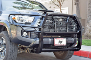 Truck Bumpers - TJM - Steelcraft - Steelcraft 50-3420C HD Grille Guard with Adaptive Cruise Control Window Toyota Tacoma 2016-2021