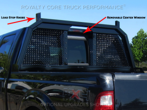 Royalty Core - Royalty Core 15325 Dodge Ram 1500 2002-2008 RC88 Ultra Billet Headache Rack w Integrated Taillights - Image 2