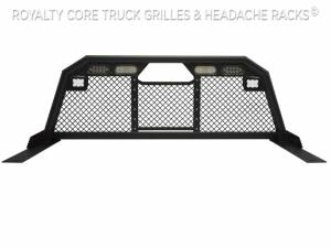 Royalty Core - Royalty Core 15841 Dodge Ram 1500 2002-2008 RC88 Ultra Billet Headache Rack w Integrated Taillights & Dura PODs - Image 2