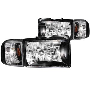 B Exterior Accessories - Lighting - Anzo USA - Anzo USA 111067 Crystal Headlight Set