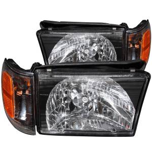 B Exterior Accessories - Lighting - Anzo USA - Anzo USA 111077 Crystal Headlight Set