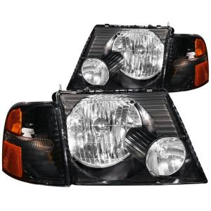 B Exterior Accessories - Lighting - Anzo USA - Anzo USA 111071 Crystal Headlight Set