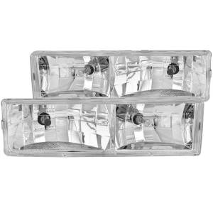 B Exterior Accessories - Lighting - Anzo USA - Anzo USA 111004 Crystal Headlight Set