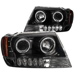 B Exterior Accessories - Lighting - Anzo USA - Anzo USA 111043 Projector Headlight Set w/Halo