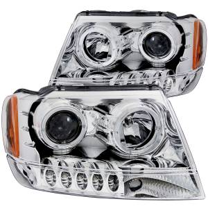 B Exterior Accessories - Lighting - Anzo USA - Anzo USA 111044 Projector Headlight Set w/Halo