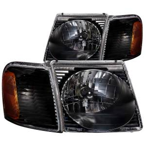 B Exterior Accessories - Lighting - Anzo USA - Anzo USA 111041 Crystal Headlight Set