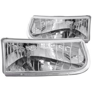 B Exterior Accessories - Lighting - Anzo USA - Anzo USA 111038 Crystal Headlight Set