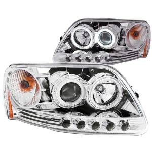B Exterior Accessories - Lighting - Anzo USA - Anzo USA 111054 Projector Headlight Set w/Halo