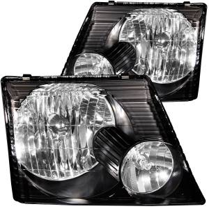 B Exterior Accessories - Lighting - Anzo USA - Anzo USA 111058 Crystal Headlight Set