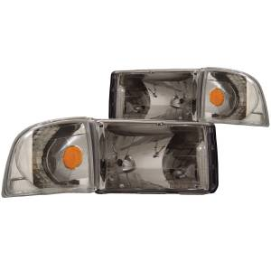 B Exterior Accessories - Lighting - Anzo USA - Anzo USA 111068 Crystal Headlight Set