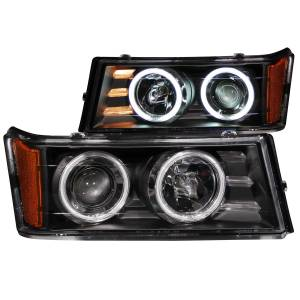 B Exterior Accessories - Lighting - Anzo USA - Anzo USA 111079 Projector Headlight Set w/Halo