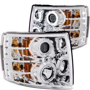 B Exterior Accessories - Lighting - Anzo USA - Anzo USA 111086 Projector Headlight Set w/Halo