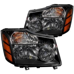 B Exterior Accessories - Lighting - Anzo USA - Anzo USA 111069 Crystal Headlight Set