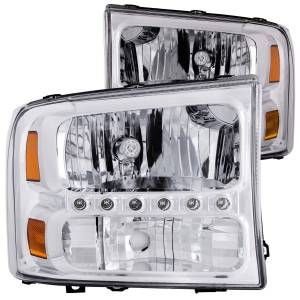 B Exterior Accessories - Lighting - Anzo USA - Anzo USA 111088 Crystal Headlight Set