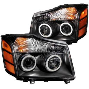 B Exterior Accessories - Lighting - Anzo USA - Anzo USA 111095 Projector Headlight Set w/Halo