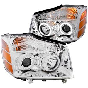 B Exterior Accessories - Lighting - Anzo USA - Anzo USA 111094 Projector Headlight Set w/Halo