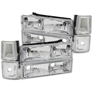 B Exterior Accessories - Lighting - Anzo USA - Anzo USA 111099 Crystal Headlight Set
