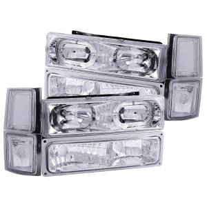 B Exterior Accessories - Lighting - Anzo USA - Anzo USA 111101 Crystal Headlight Set w/Halo