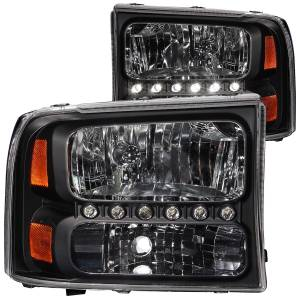 B Exterior Accessories - Lighting - Anzo USA - Anzo USA 111106 Crystal Headlight Set