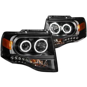 B Exterior Accessories - Lighting - Anzo USA - Anzo USA 111113 Projector Headlight Set w/Halo