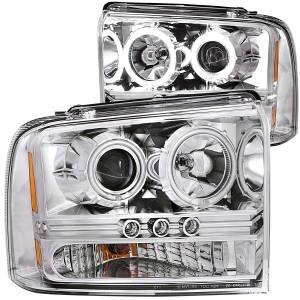 B Exterior Accessories - Lighting - Anzo USA - Anzo USA 111118 Projector Headlight Set w/Halo