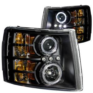 B Exterior Accessories - Lighting - Anzo USA - Anzo USA 111107 Projector Headlight Set w/Halo