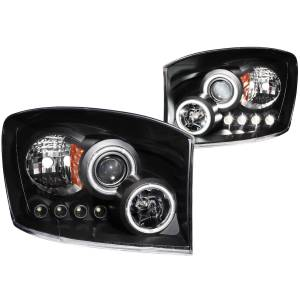 B Exterior Accessories - Lighting - Anzo USA - Anzo USA 111104 Projector Headlight Set w/Halo
