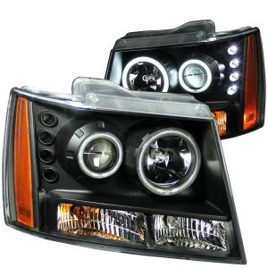 B Exterior Accessories - Lighting - Anzo USA - Anzo USA 111109 Projector Headlight Set w/Halo
