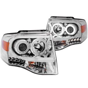 B Exterior Accessories - Lighting - Anzo USA - Anzo USA 111114 Projector Headlight Set w/Halo