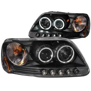 B Exterior Accessories - Lighting - Anzo USA - Anzo USA 111097 Projector Headlight Set w/Halo